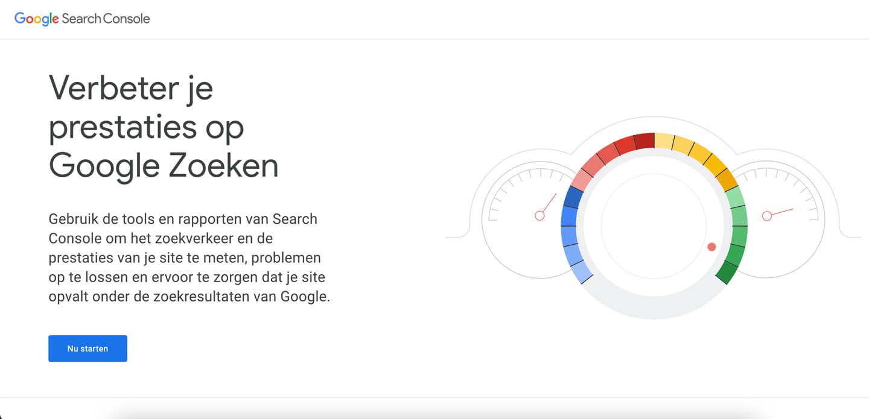 Google Search Console tool bij zoekwoorden analyse.